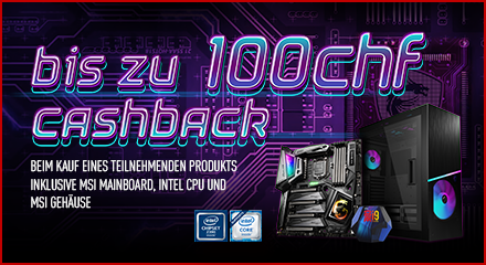 Micro Star International Cashback Promotion 2020